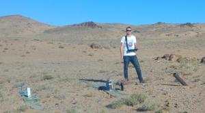 rudolf tengler georadar roteg poušť Gobi